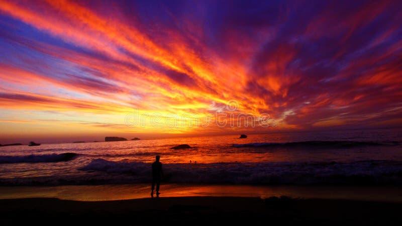 Clifton Beach Sunset royaltyfri foto