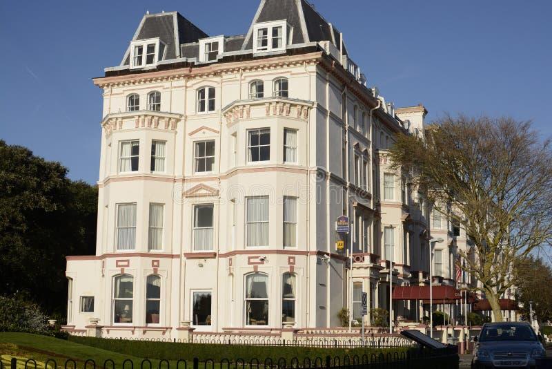 Clifton Hotel. Folkestone. Engeland stock foto's