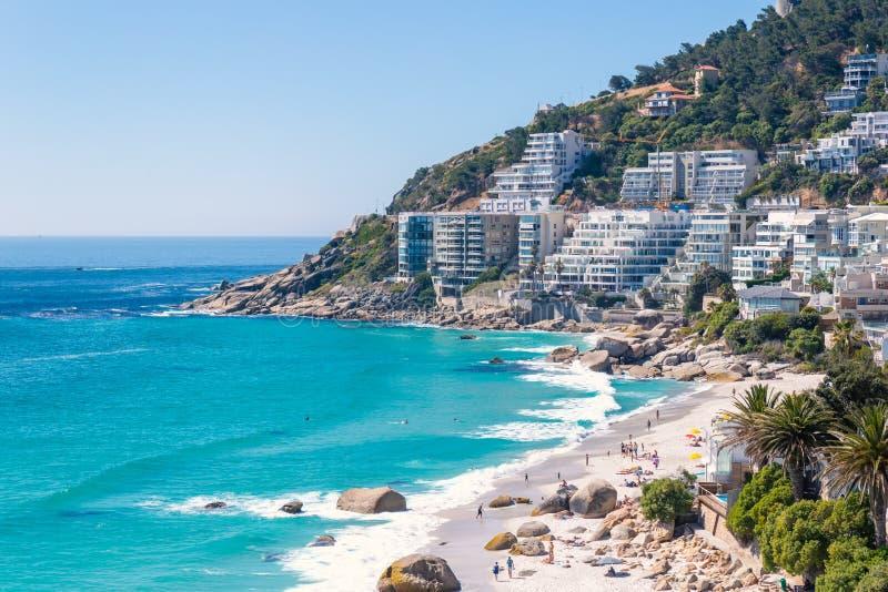 Clifton-Strand - der teuerste Luxusort von Südafrika lizenzfreies stockfoto