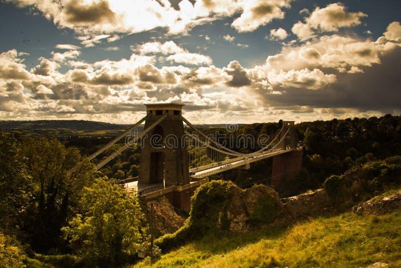 Clifton Suspension Bridge arkivfoton
