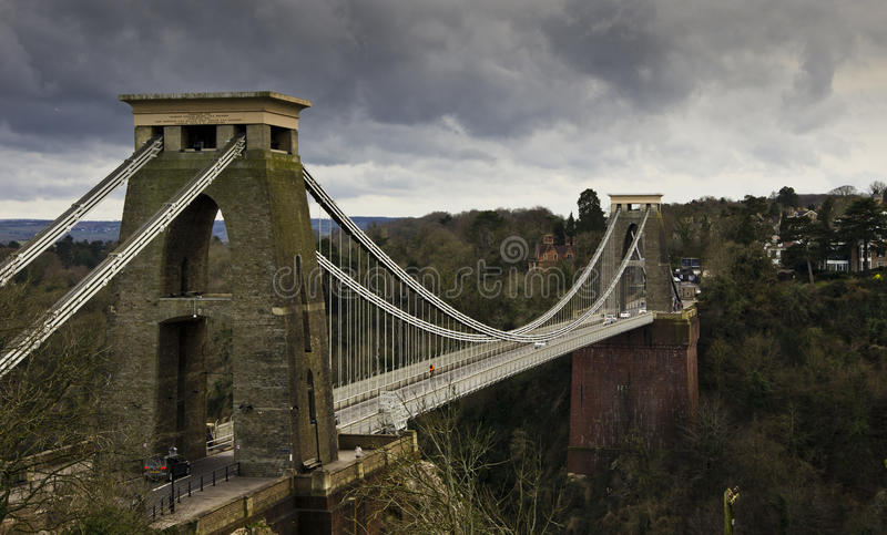 Clifton Suspension Bridge lizenzfreie stockfotos