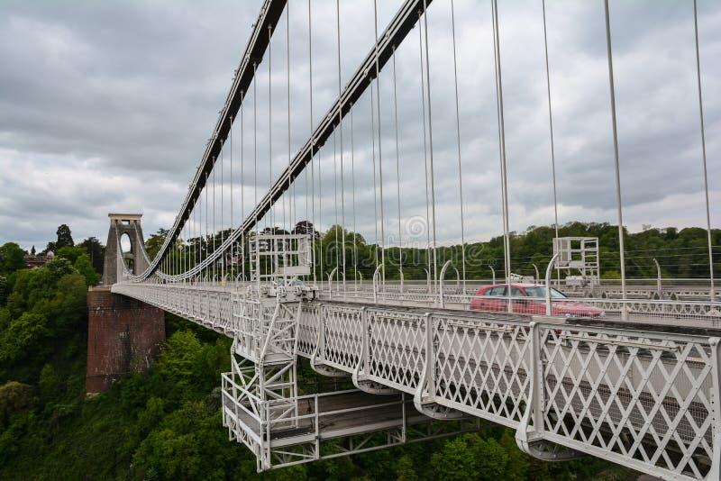 Clifton Suspension Bridge - Bristol stock afbeelding