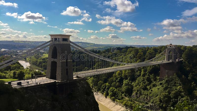 Clifton Suspension Bridge, Bristol, Großbritannien lizenzfreie stockfotos