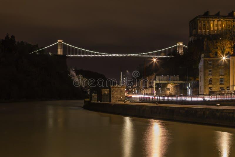 Clifton Suspension Bridge da bacia de Cumberland fotos de stock