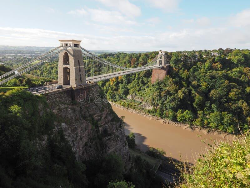 Clifton Suspension Bridge en Bristol fotografía de archivo