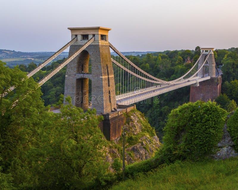 Clifton Suspension Bridge en Bristol imagenes de archivo