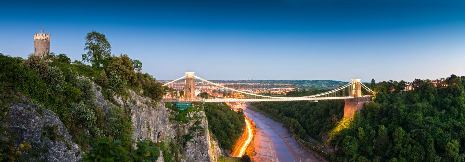 Clifton Suspension Bridge, Großbritannien stockbild