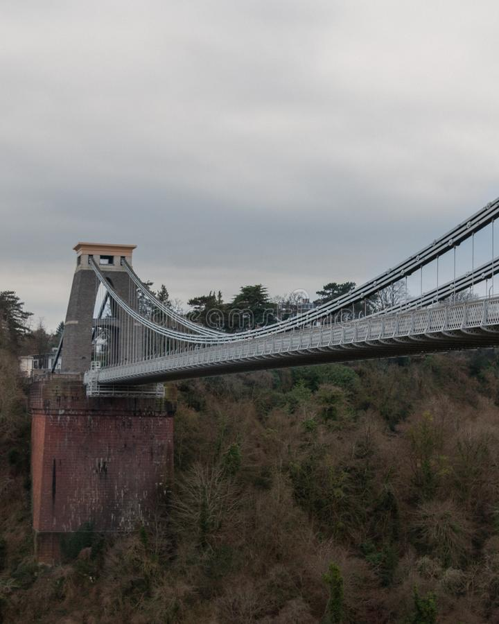 Clifton Suspension Bridge over the river Avon. Clifton Suspension Bridge on the river Avon in Bristol royalty free stock images