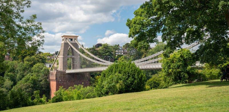 Clifton Suspension Bridge que atraviesa el río Avon, Reino Unido imagen de archivo libre de regalías