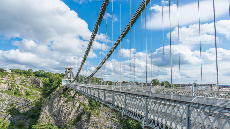 Clifton Suspension Bridge Trust in Bristol, United Kingdom. Clifton Suspension Bridge Trust in Bristol with partly sunny weather, United Kingdom royalty free stock images