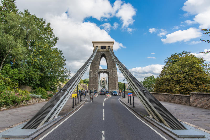 Clifton Suspension Bridge Trust in Bristol, United Kingdom. Clifton Suspension Bridge Trust in Bristol with partly sunny weather, United Kingdom royalty free stock photography