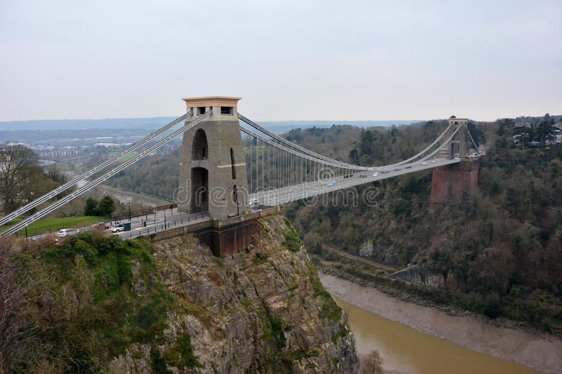 Clifton Suspension Bridge. The clifton suspension bridge was designed by Isambard Kingdom Brunel. it opened in 1864 and spans the avon gorge and river. It is a stock photos