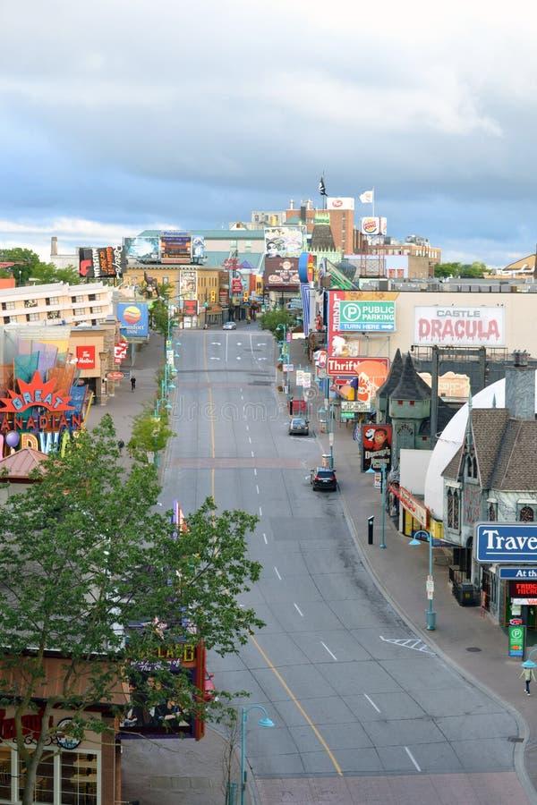 Clifton wzgórza wczesnego poranku Niagara spadki, Kanada fotografia royalty free