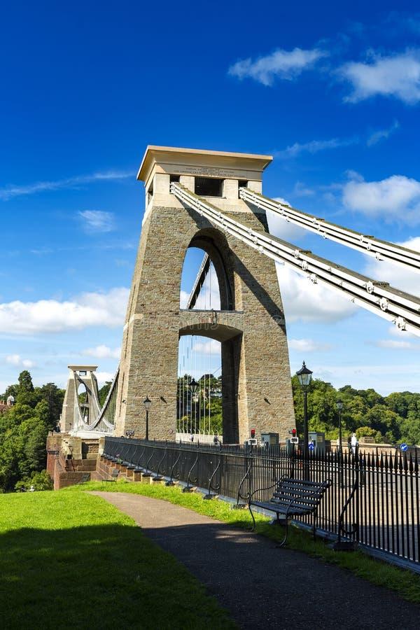 Clifton zawieszenia most, Bristol, Avon, Anglia, UK obraz royalty free