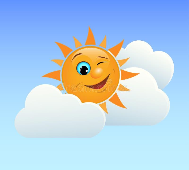 Cligner de l'oeil le soleil illustration de vecteur
