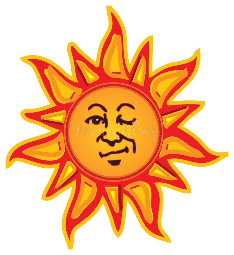 Cligner de l'oeil Sun illustration libre de droits