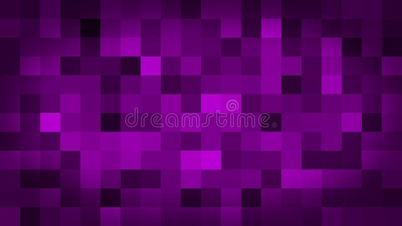 Clignotant et commutateur colorés de pixels mouvement de fond pourpre d'abrégé sur illustration de vecteur