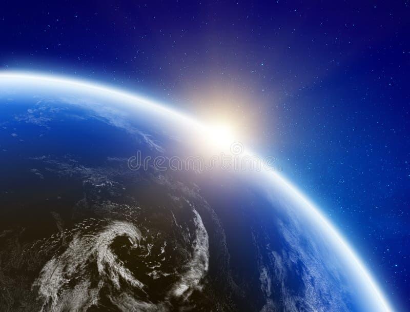 Clima da terra do espaço ilustração stock