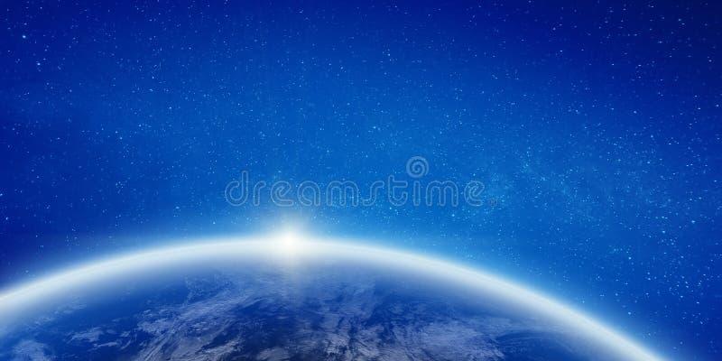 Clima da terra do espa?o ilustração royalty free