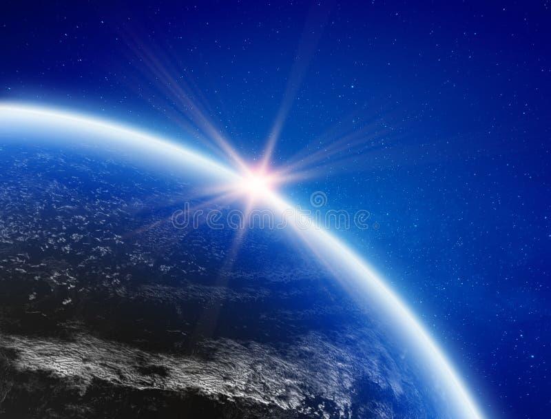 Clima da terra do espa?o ilustração do vetor