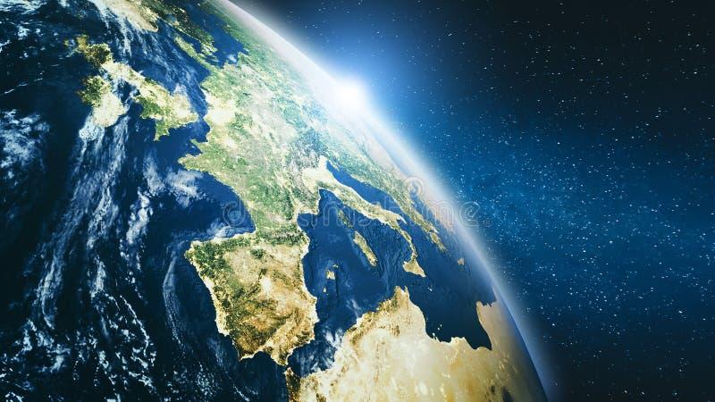 Clima de Europa do espaço ilustração royalty free