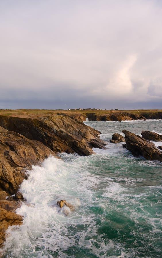 Clima de tempestade no seashore imagens de stock royalty free