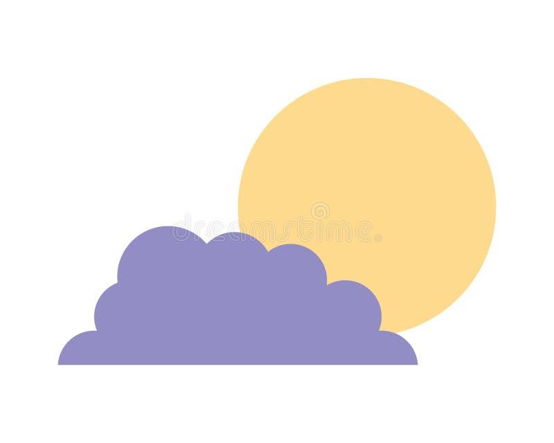 Clima del sole della nuvola del cielo della natura royalty illustrazione gratis