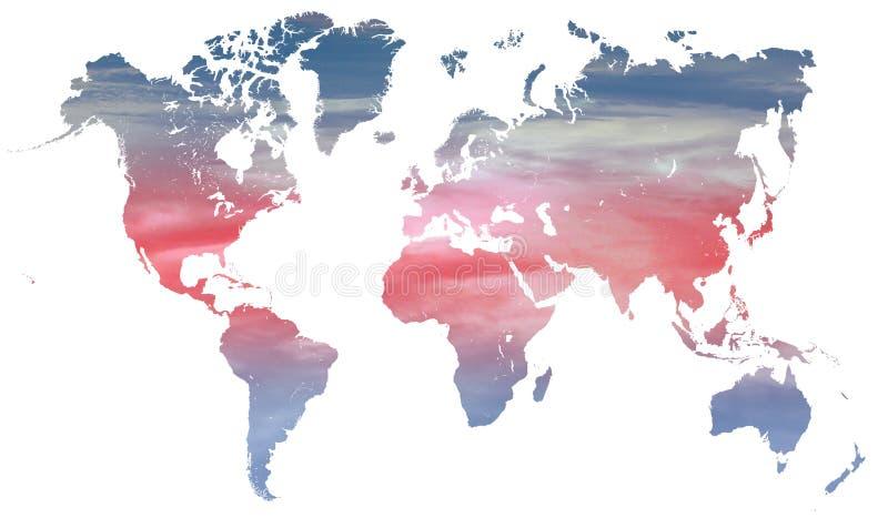 Clima e temperatura del mondo illustrazione vettoriale