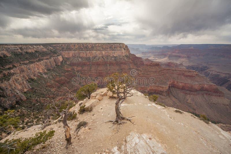 Clima tempestuoso en Grand Canyon foto de archivo