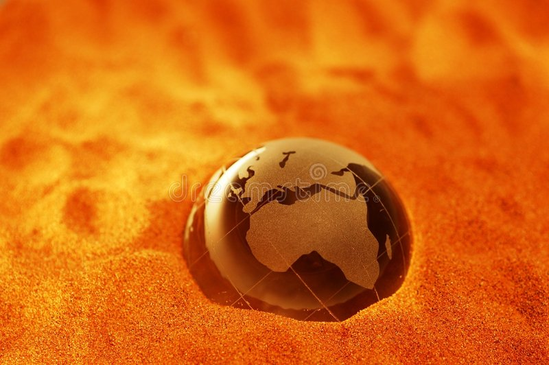 Climate change. Desertification is drying our world - Global Warming Concept royalty free stock image