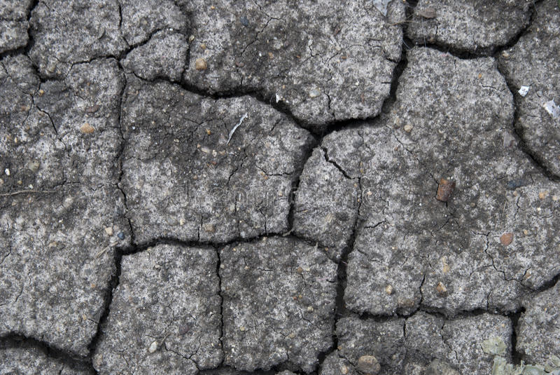 Climate change. Dried land as result of a climate change stock images