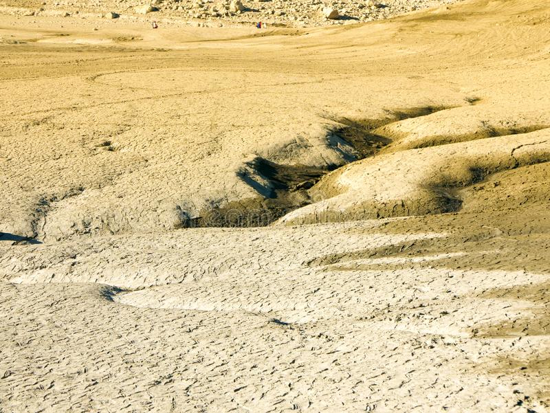 Climate change concept, dried surface of desert royalty free stock photos