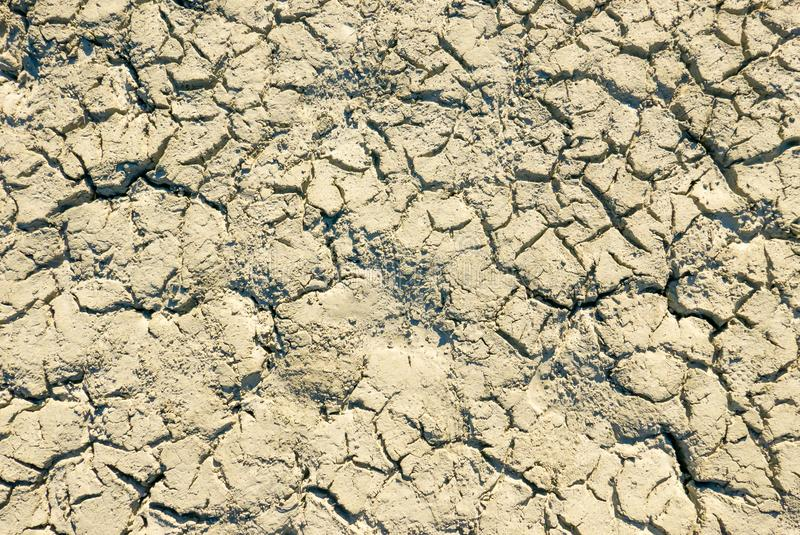 Climate change concept, dried surface of desert ground stock photography