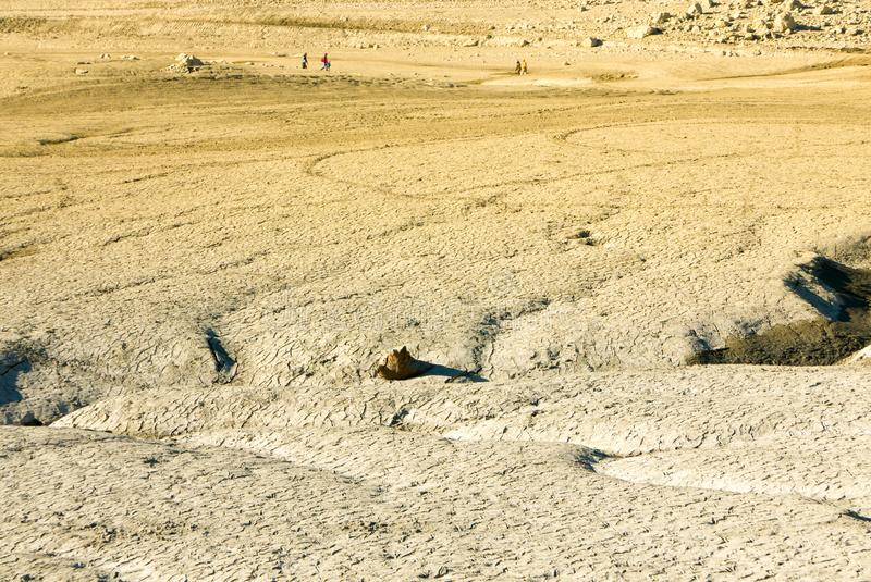 Climate change concept, dried surface of desertous landscape stock images