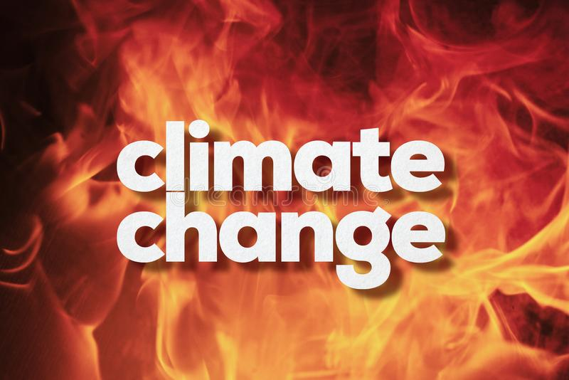 Climate change concept on Fire. Climate change on fire background royalty free stock photo