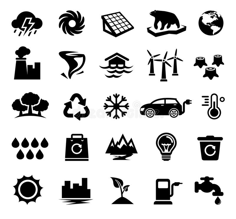 Climate Change, Global Warming, Ecology, Environment royalty free illustration
