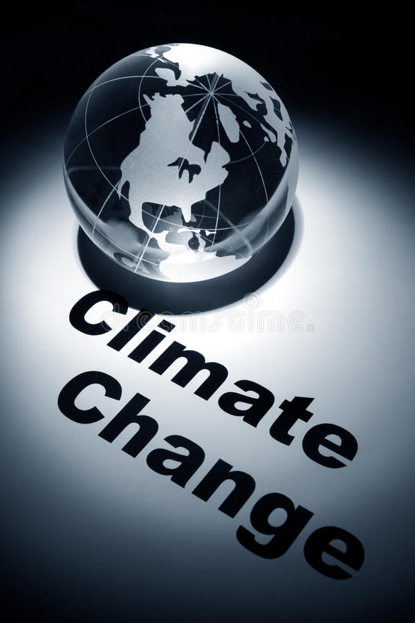 Climate Change. Globe, concept of Global Climate Change royalty free stock images