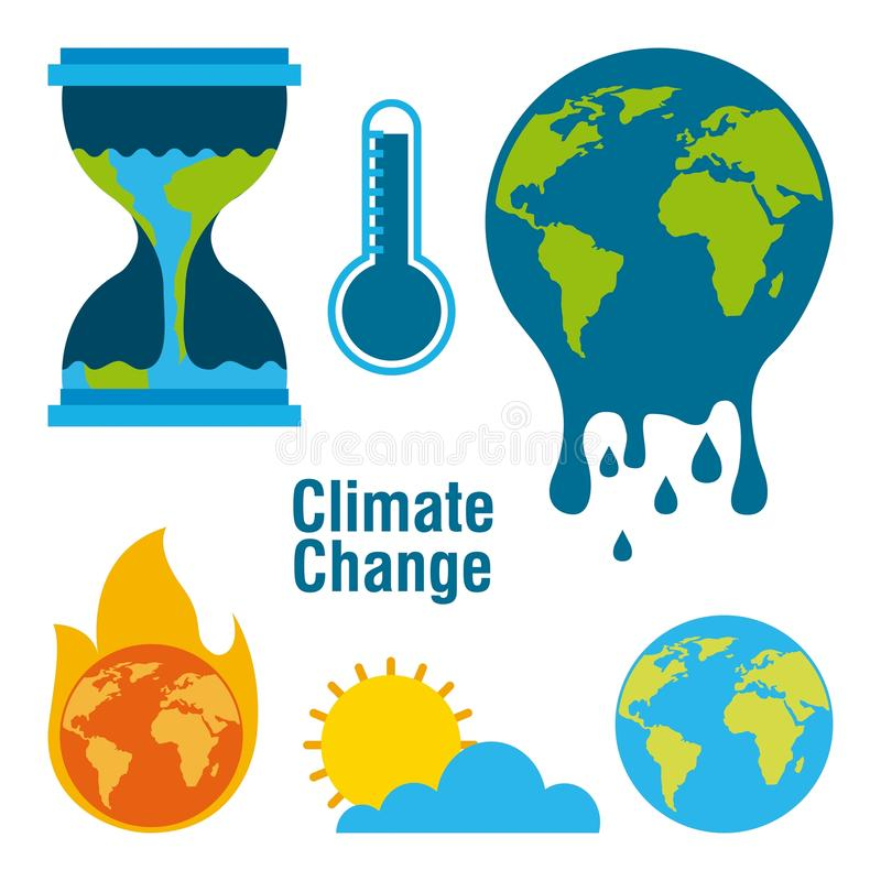 Free Climate Change Temperature Planet World Fire Melted Time Royalty Free Stock Images - 110434199