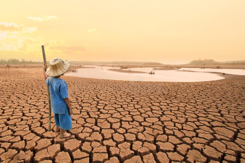 Climate change and World environmental concept. stock images