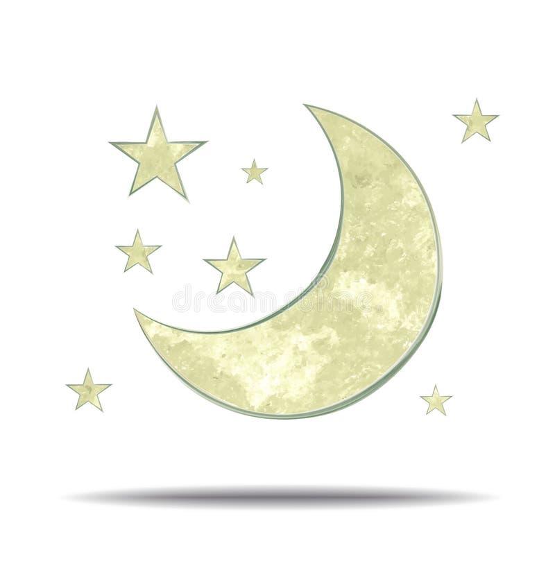climate Lune et étoiles illustration stock