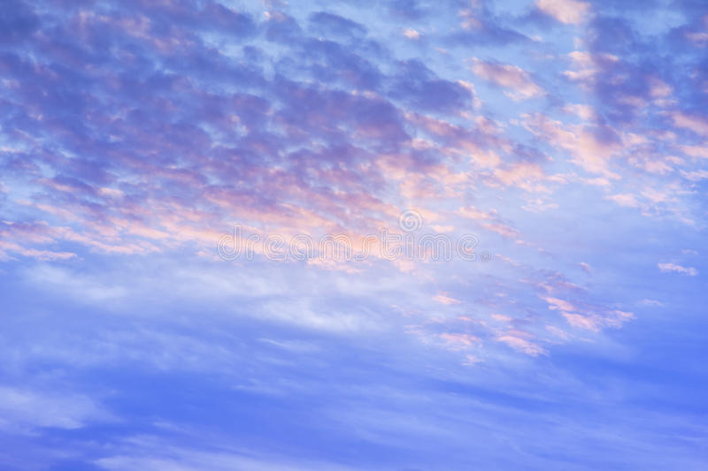 climate sunset sky with fluffy clouds and beautiful heavy weather landscape for use as background images royalty free stock photography