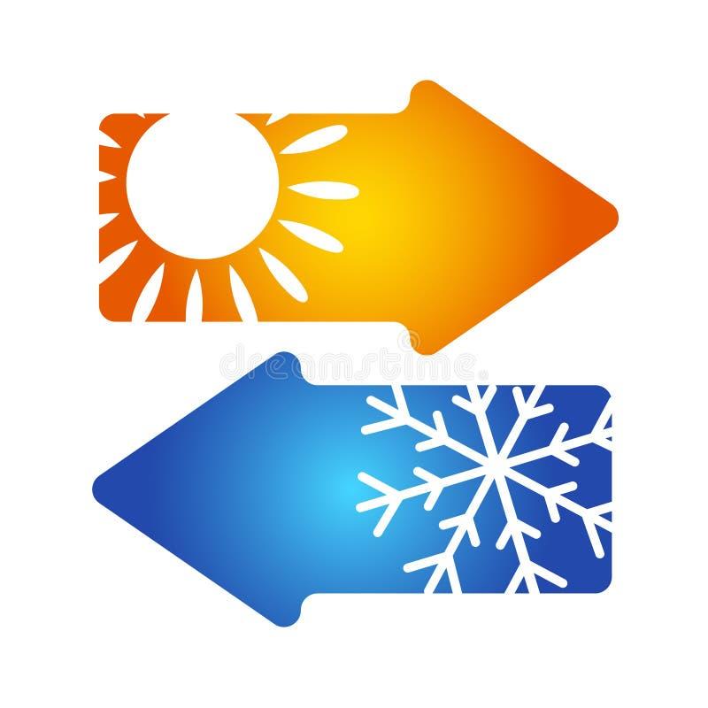 Climatisation di simbolo illustrazione vettoriale