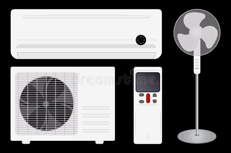 Climatisation et ventilateur illustration de vecteur