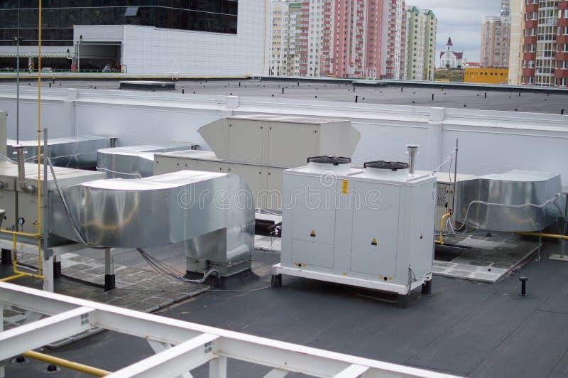 Climatisation industrielle, ventilation et systèmes refrigent photographie stock