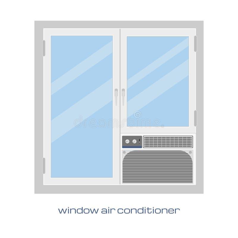 climatiseur de fen tre image de vecteur climatiseur de fen tre dans un style plat pour votre. Black Bedroom Furniture Sets. Home Design Ideas