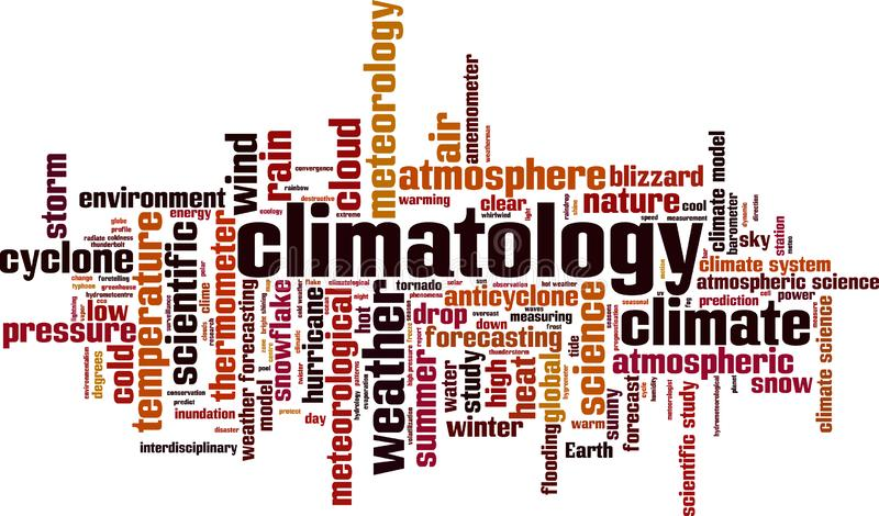 Climatology word cloud. Concept. Vector illustration stock illustration