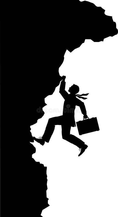 Climb_businessman vector illustratie