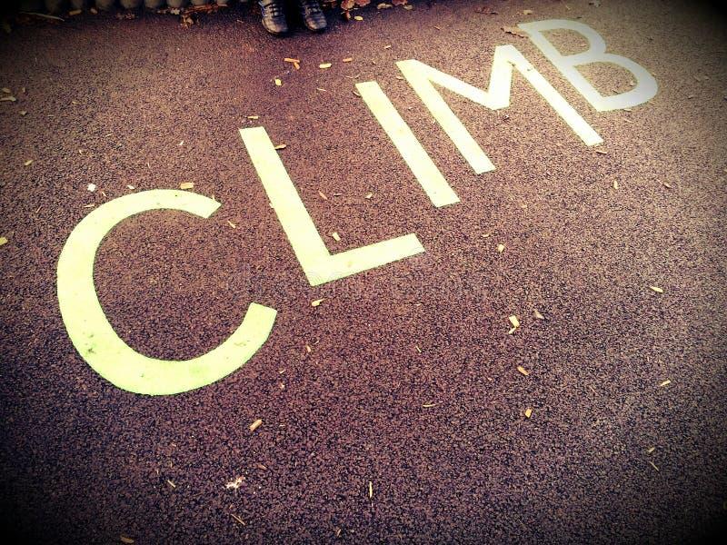 Climb Sign Royalty Free Stock Image