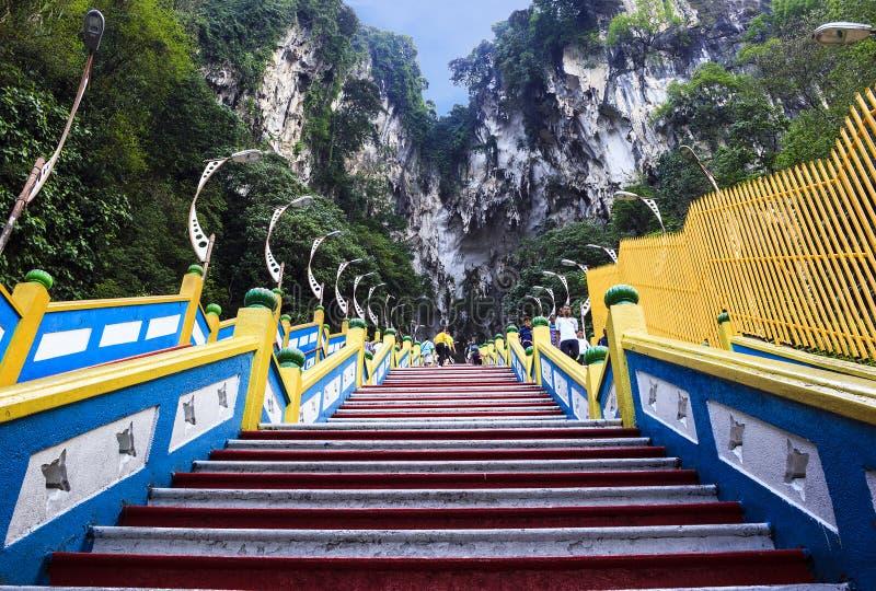 Climb to Batu cave on mountain. In Malaysia stock photos