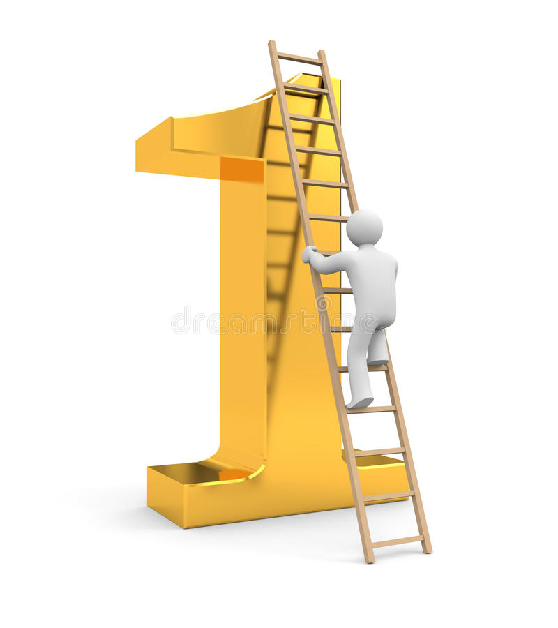 Climb to success stock illustration